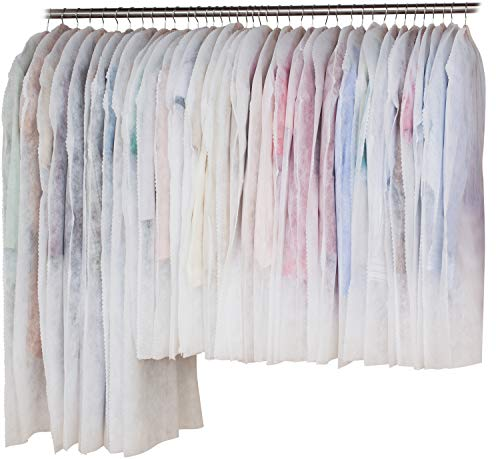 アストロ 洋服カバー 40枚 スーツ30枚+ロング10枚 両面不織布 フリル調 605-11
