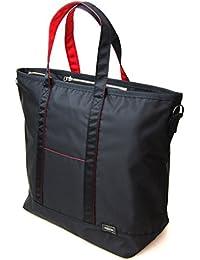 ポーターエルファイン(PORTER L-fine) PORTER×ILS共同企画 トートボストンバッグ Tote Boston Bag ブラック(裏地:レッド) Black(Backing:Red)