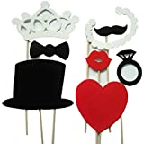 8 Pcs DIY Colourful Photo Booth Props On A Stick Moustache Bearded Lips For Fun Wedding Favour Christmas Birthday Party Favour