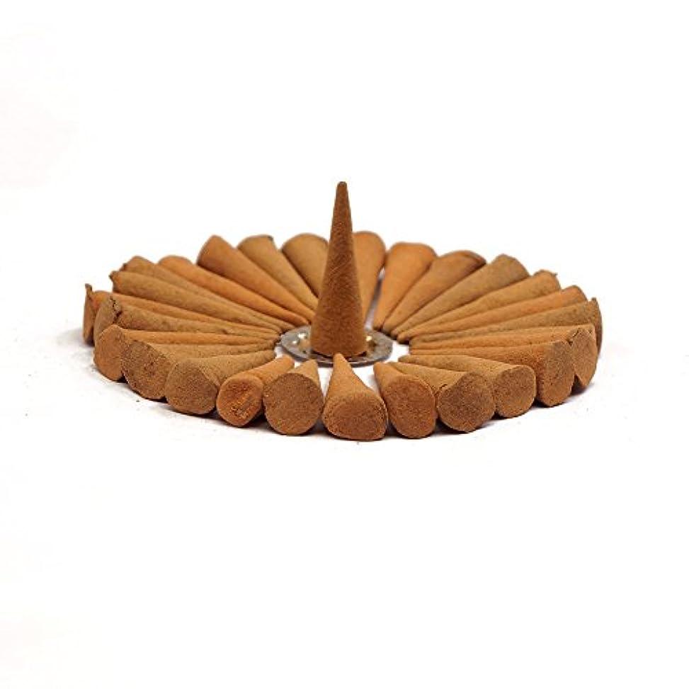 実行男らしさ野心的Sandalwood Incense Cones - One Box