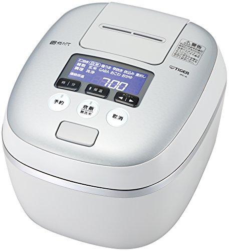 タイガー 炊飯器 5.5合 圧力 IH ホワイトグレー 炊きた...