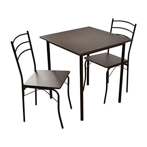 (DORIS) ダイニングテーブル 3点セット 【モーリス ブラウン】 テーブル&チェア(3点セット) 2人掛け 幅:70cm 組み立て式