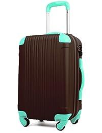 スーツケース キャリーケース キャリーバッグ 安心1年保証 ファスナー L サイズ 長期滞在 拡張 7日 8日 9日 10日 11日 12日 13日 14日 TSAロック ハードキャリー 大型 ジッパー かわいい 全サイズ 有り 5082-70 チョコ/ミント