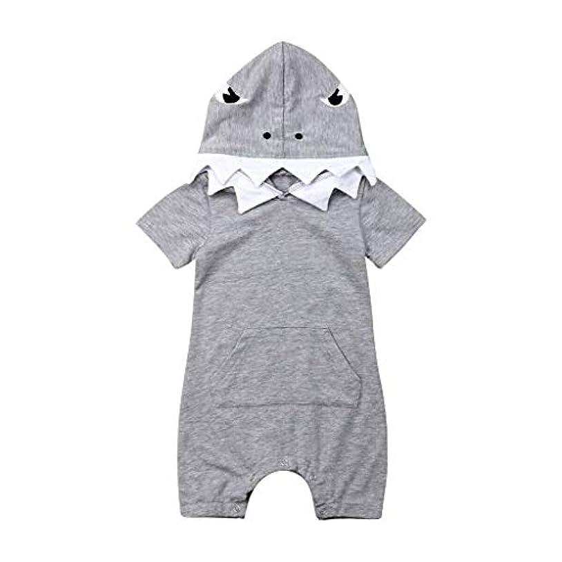 立派な落胆する見つけた[ポクトロン] ベビー 生まれたばかりの赤ちゃんの男の子幼児子供漫画プリントロンパースコスチュームジャンプスーツ服