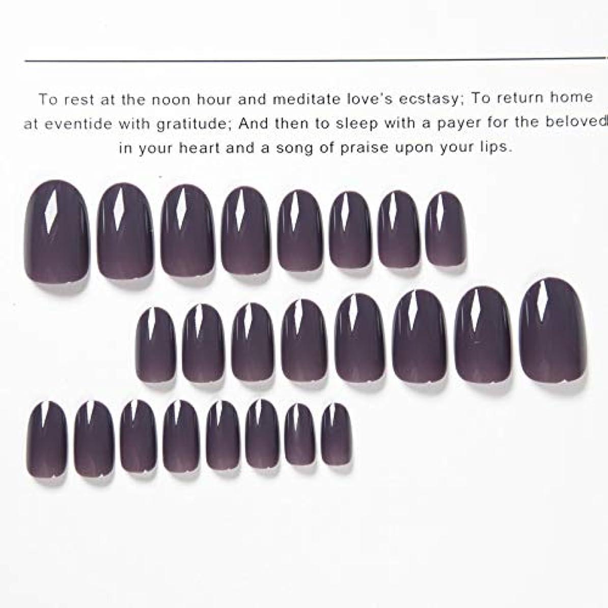 赤道ミニチュア呼吸Jonathan ハンドケア 偽の釘の古典24本の釘の釘のテープが付いている出版物の紫色