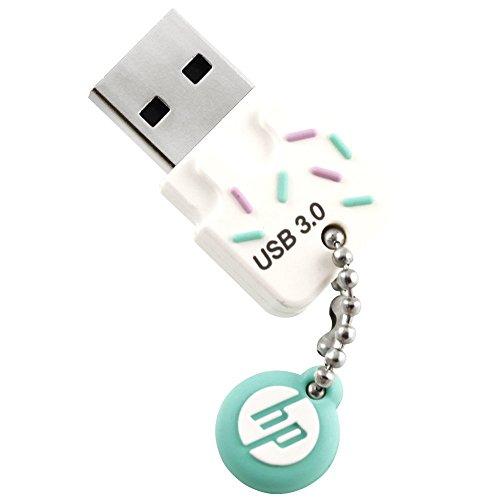 HP ヒューレット・パッカード 高速アイスクリーム USBメモリ (32GB, x778w - USB 3.0 / ブルー アイスクリーム ゴム製 耐衝撃 防滴 防塵) ヒューレット・パッカード