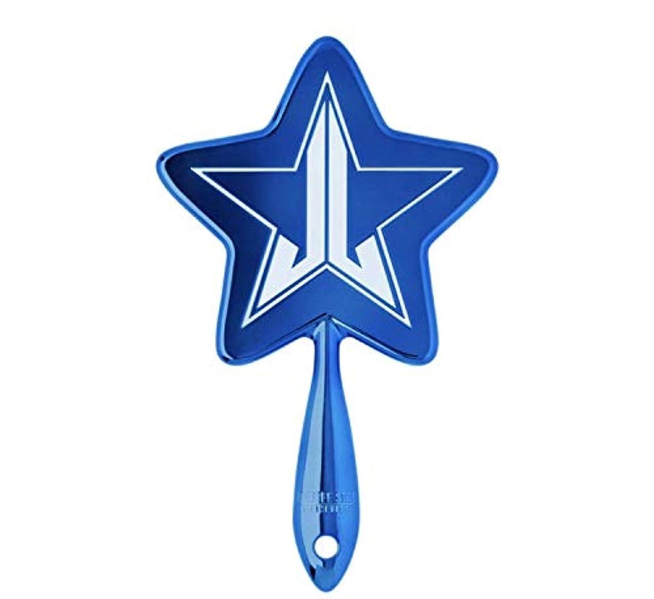 ジョグ私の対処するJeffreeStarCosmetics ジェフリースターコスメティック bluechrome メタリックブルー 星形 手鏡 ミラー