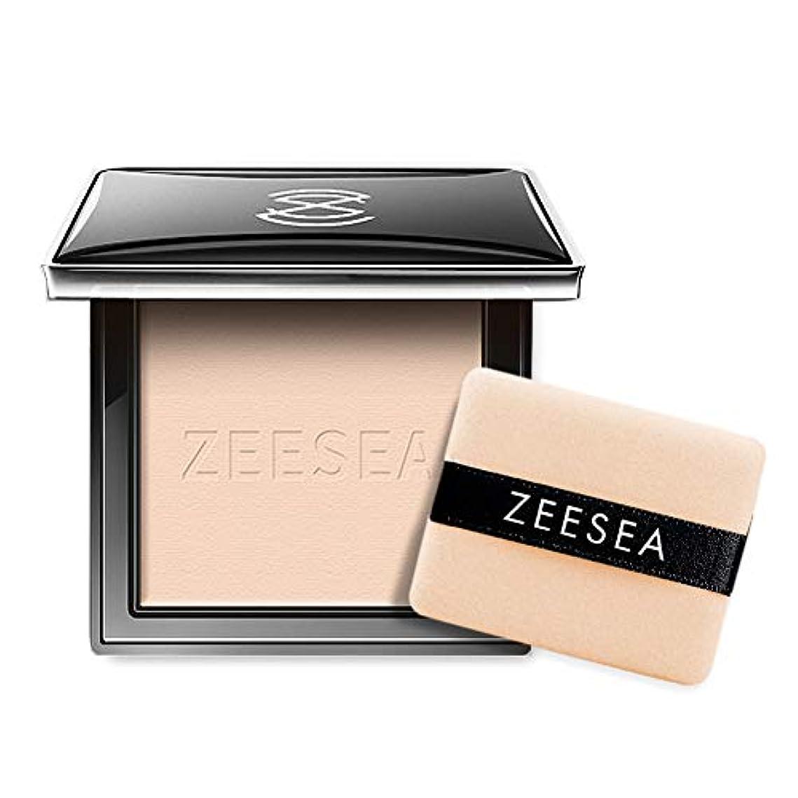 野心ターゲット売り手ZEESEA フェイスパウダーファンデーション(パフ付き) テカリ防止効果のあるかつウォータープルーフコンシーラかつ美しくシェーディング、(M00明るい肌色)