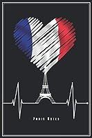 """Paris Notes: Paris Notizbuch Planer Tagebuch (Liniert, 15 x 23 cm, 120 Linierte Seiten, 6"""" x 9"""") Geschenk Fuer Pariser & Frankreich Fans"""
