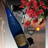 ドイツ白ワイン(ピーロート・ブルー)【アウスレーゼ】とバラのブーケ(花束)