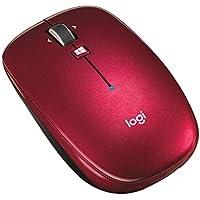 ロジクール ワイヤレスマウス 無線 薄型 マウス M557RD Bluetooth 6ボタン M557 レッド 国内正規品 3年間無償保証