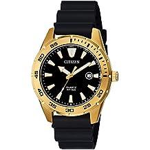 Citizen Men's Stainless Steel Japanese-Quartz Polyurethane Strap, Black, 22 Casual Watch (Model: BI1043-01E