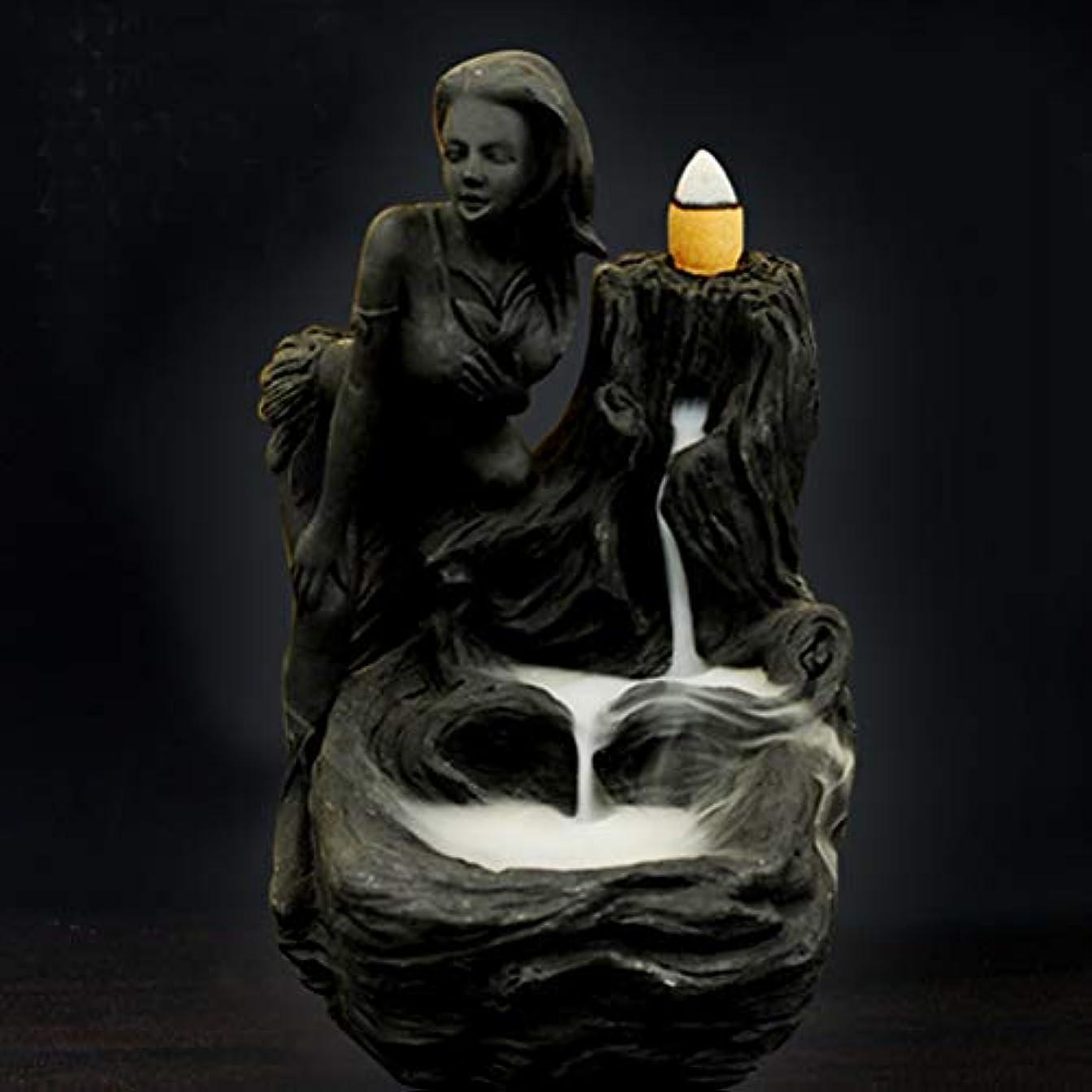 弱い付ける野生女神香炉煙逆流タワー香炉香炉香炉ホルダー香炉ホームデコレーション