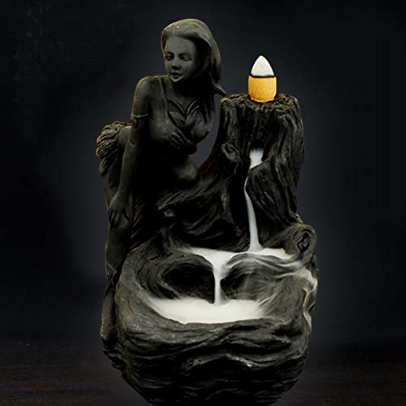 灌漑レンジキャラクター女神香炉煙逆流タワー香炉香炉香炉ホルダー香炉ホームデコレーション