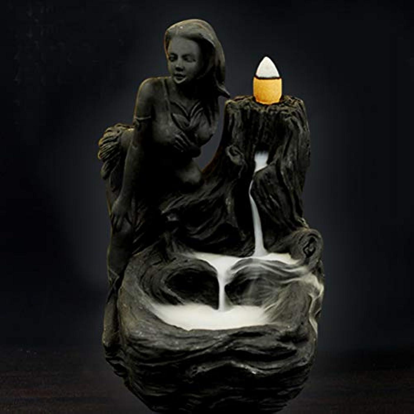 背の高いアシスト時刻表女神香炉煙逆流タワー香炉香炉香炉ホルダー香炉ホームデコレーション