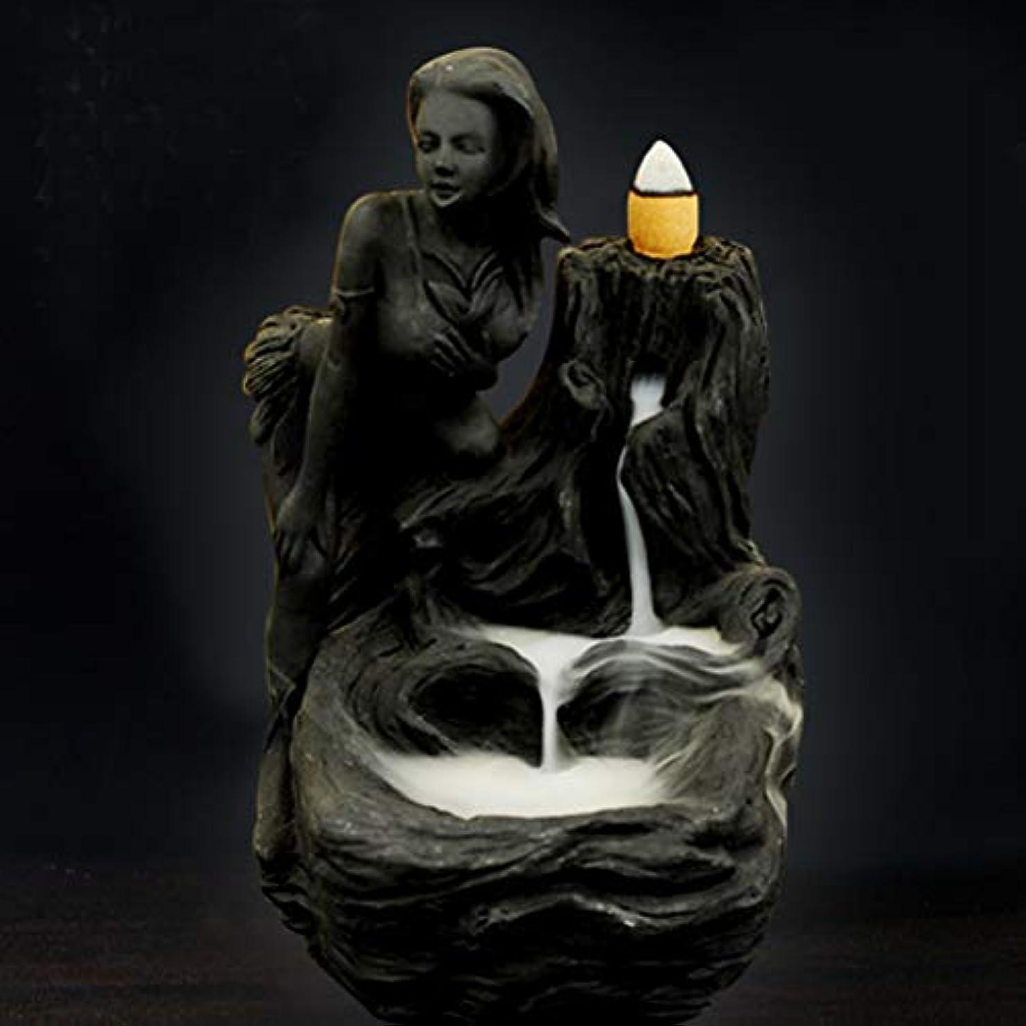 丁寧ポーズくそー女神香炉煙逆流タワー香炉香炉香炉ホルダー香炉ホームデコレーション