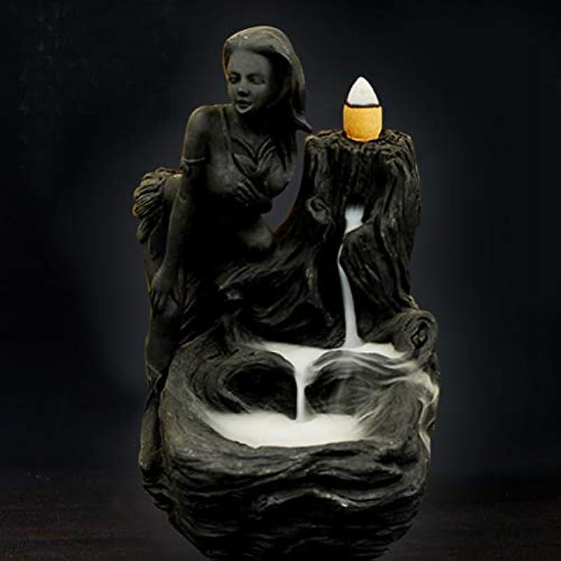 こねる義務的遅滞女神香炉煙逆流タワー香炉香炉香炉ホルダー香炉ホームデコレーション