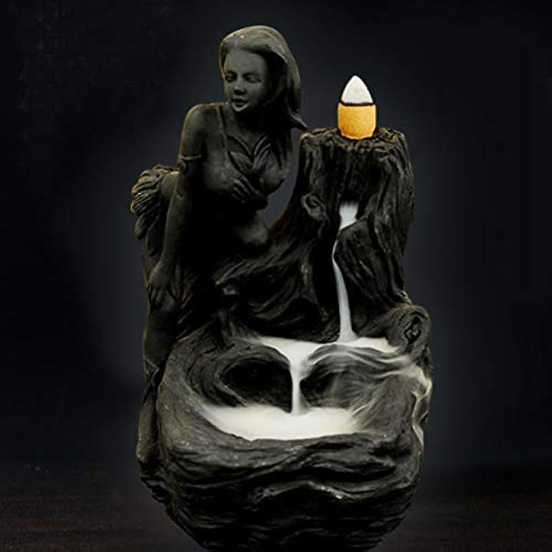 死ぬ克服する受け取る女神香炉煙逆流タワー香炉香炉香炉ホルダー香炉ホームデコレーション