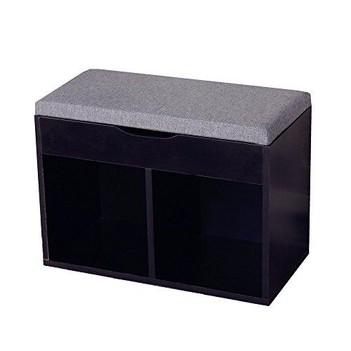 オスパイ(OSPI) くつ箱 靴箱 腰掛け ボックス 収納ボックス ベンチ スツール 幅60cm (ブラック)