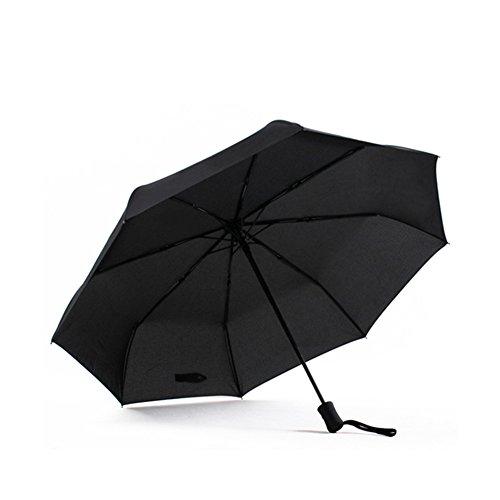 Momiji 自動開閉折り畳み傘 ワワンタッチ自動開閉 撥水 大きいコンパクト 大人二人でも安心して入れる傘 ブラック