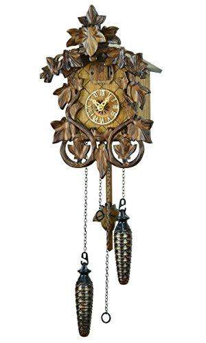 【新ムーブメント音量調整付】クォーツ式鳩時計カッコー時計 ドイツ森の時計 シュヴァルツヴァルト525QM