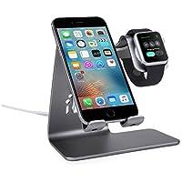 Bestand iPhone/iPad/Apple watch対応 スマートフォン充電クレードル アップルウォッチ 両用 充電デスクトップスタンド (grey)