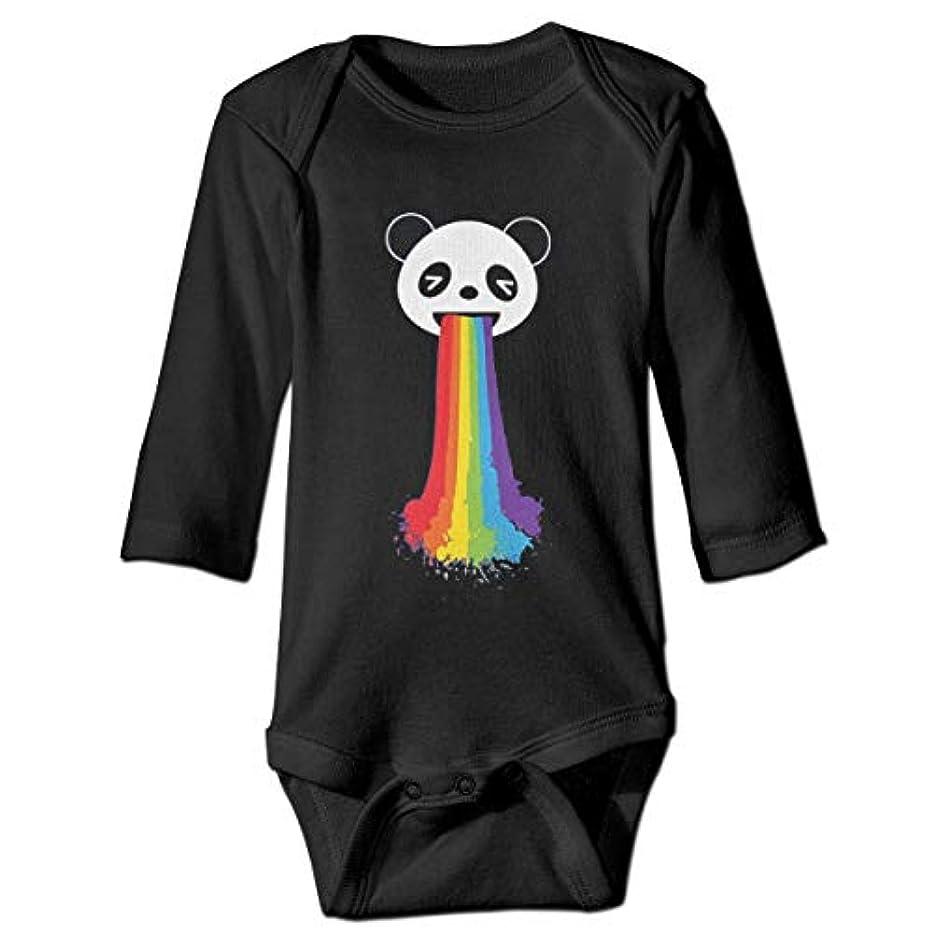 ホバートインペリアル遺伝的レインボーベビーボディースーツファッションワンシー長袖衣装コスチューム、18 Mを投げるパンダ