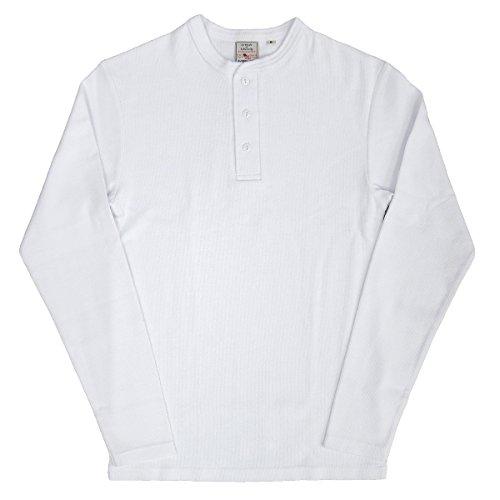 AVIREX デイリー ヘンリーネック ロングスリーブ Tシャツ #6153482(旧品番#618875)Sホワイト