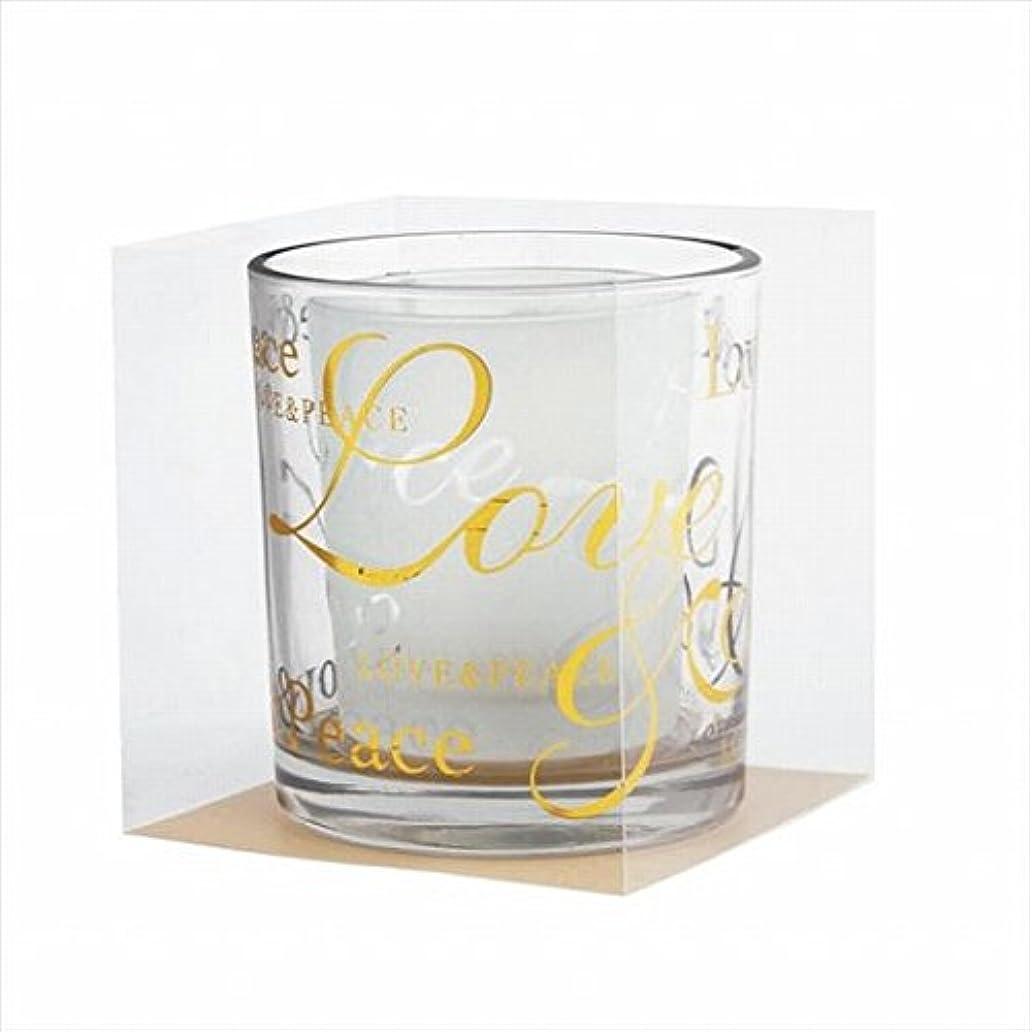豆肘添付カメヤマキャンドル(kameyama candle) ラブ&ピースデュエットグラス 「 ゴールド 」