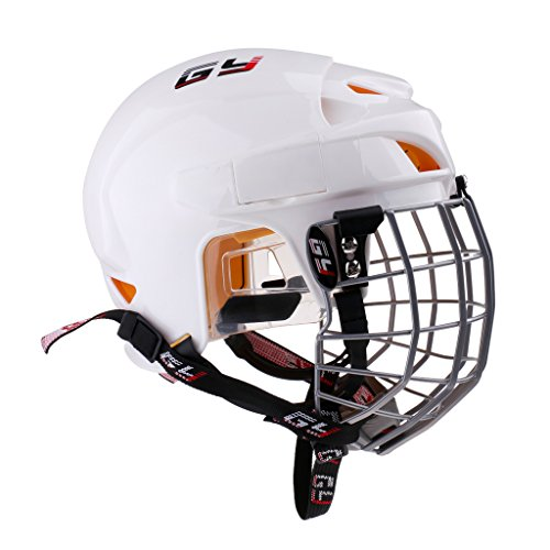 SunniMix ケージ ヘルメット アイスホッケー 保護装置 スポーツ護具 アウトドア運動 耐衝撃性 全5サイズ