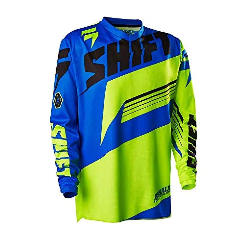 挽く誓い名誉あるCXUNKK オートバイのオフロード服に乗って夏のアウトドアライディングスピードの服長袖シャツメンズマウンテンバイク (Color : 18, Size : XS)