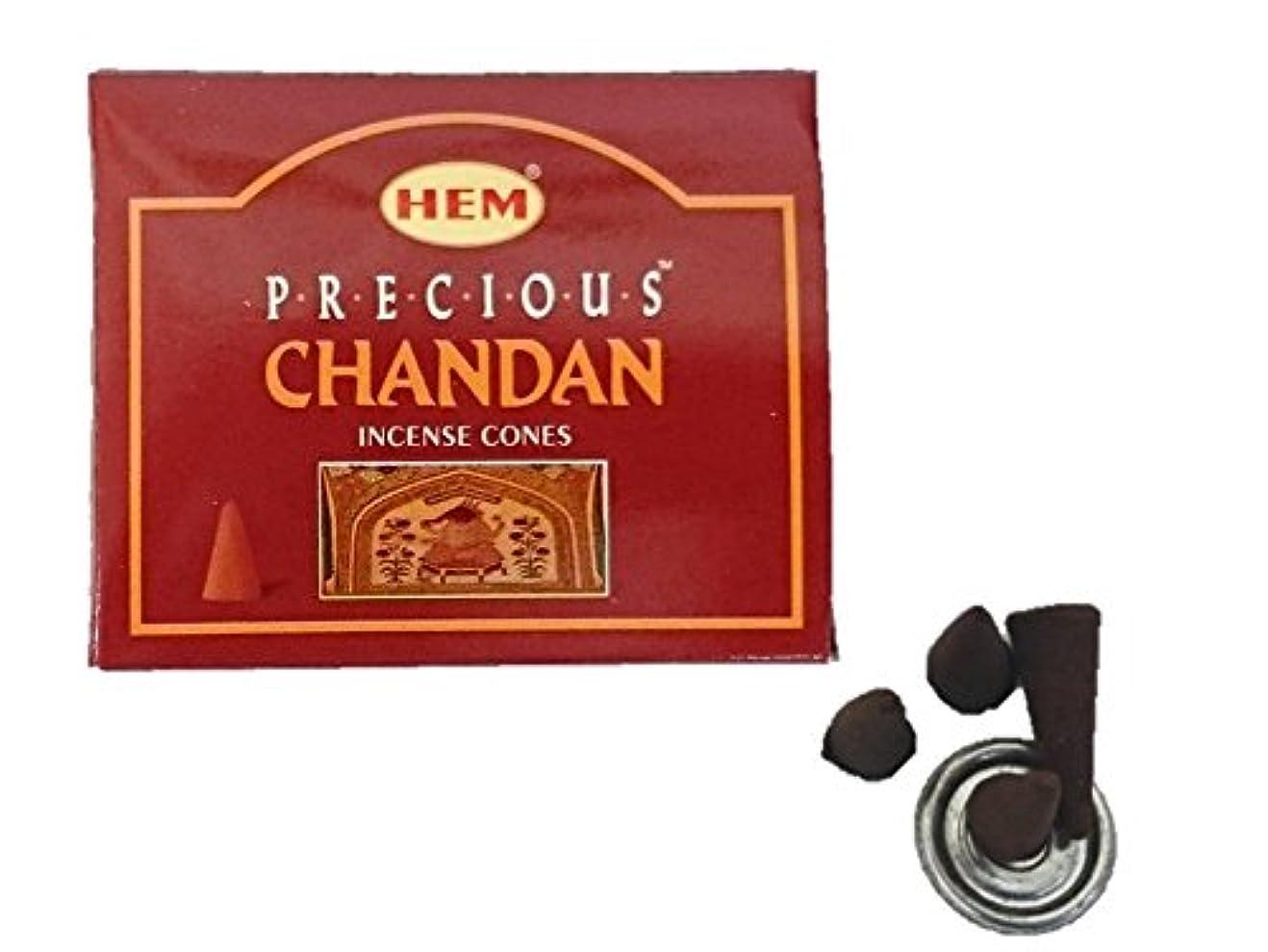 ダーベビルのテスパブ意識HEM(ヘム)お香 プレシャス チャンダン コーン 1箱