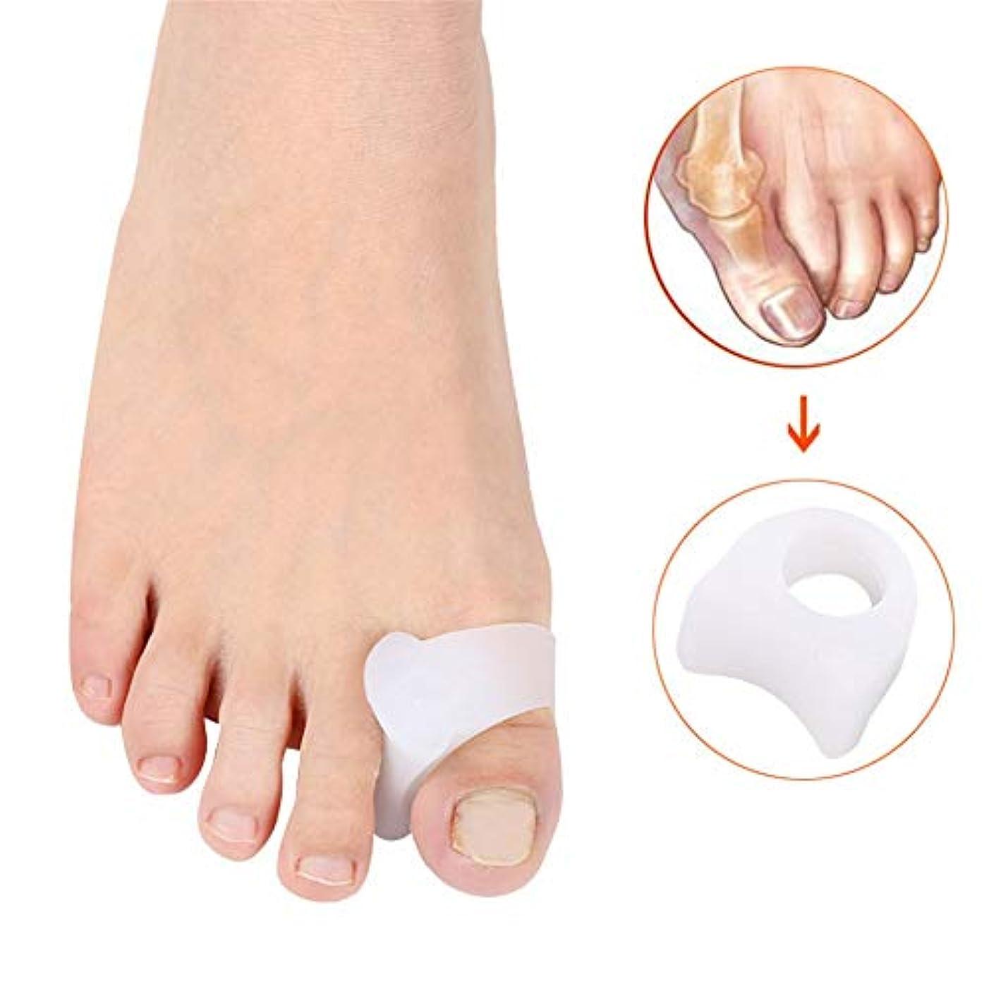 なぜなら最も遠い封建外反母趾のサポート 足のセパレータBunion Correctors Gel Toe SpacersハヌーValgusハンマートウオーバーラップトゥー 足の内側の痛みや腱膜を和らげる (サイズ : L)