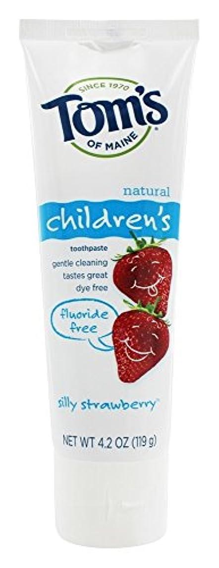 手段虐殺排気Tom's of Maine - 自然な歯磨き粉の子供のフッ化物無料愚かなイチゴ - 4.2ポンド [並行輸入品]