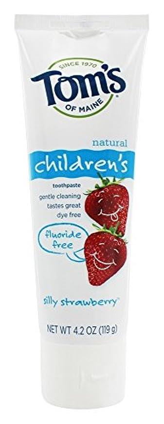 不快な完了音声学Tom's of Maine - 自然な歯磨き粉の子供のフッ化物無料愚かなイチゴ - 4.2ポンド [並行輸入品]