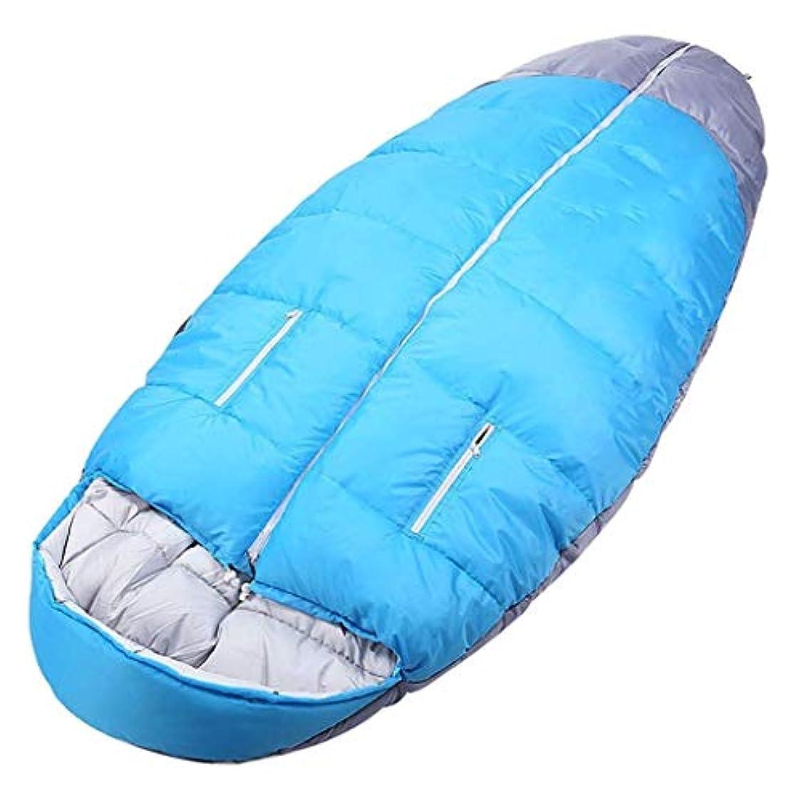 スワップ寮消毒する大人のオーバル寝袋フード付き防水軽量暖かい4シーズン寝台用キャンプ旅行ハイキング屋内野外活動青