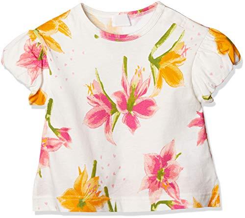 [ハッカベビー] アマリリス 花 柄 プリント バルーン 袖 Tシャツ 00950092 半袖 女の子 90 ピンク