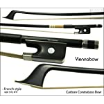 コントラバス丸弓(フレンチ) PETZ製 ヴィエナシリーズII 精選K-2カーボン 3/4(4/4共用)サイズ