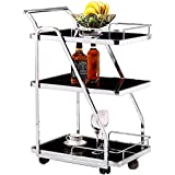 Shhdd Kitchen bar Stainless Steel Dining car Trolley Glass Tea Drinks Wine Racks, bar carts -4 Medieval Layer 2 Styles 63 * 4