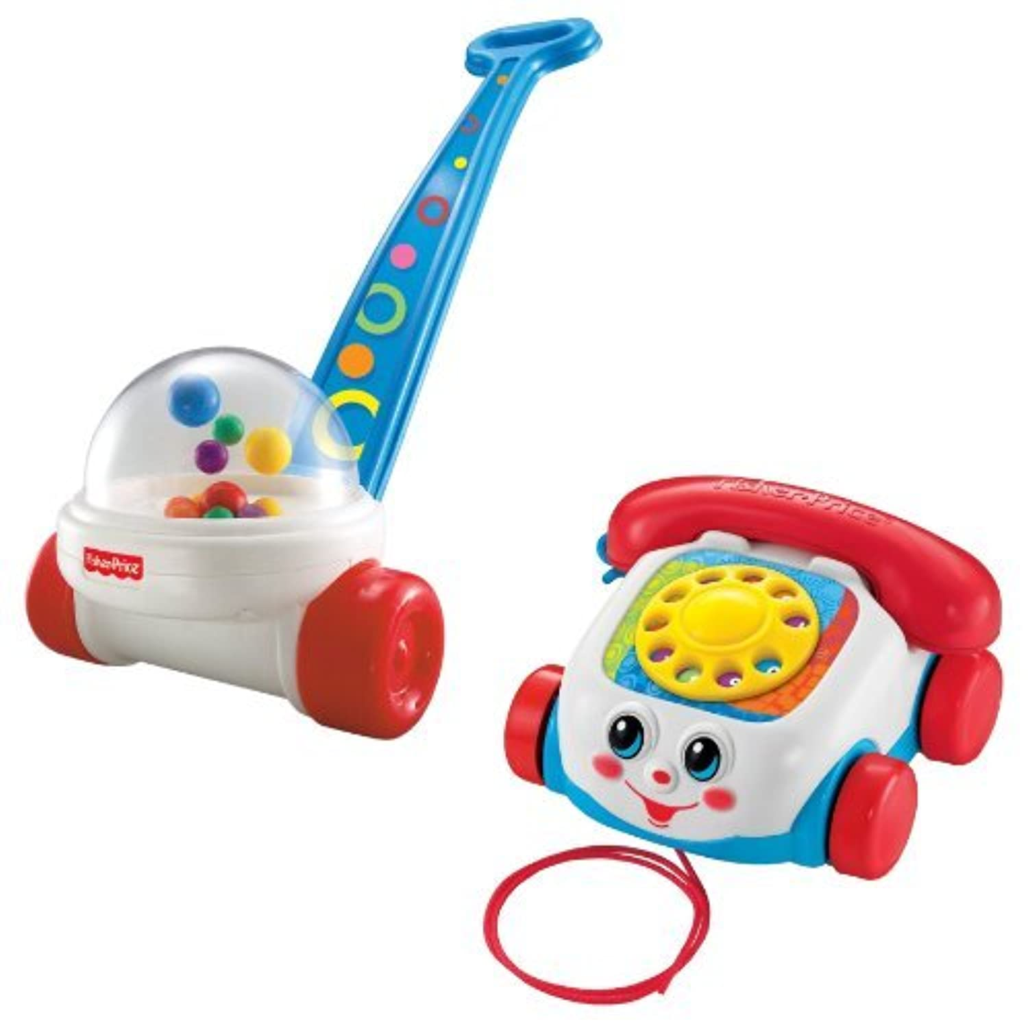 Fisher Price Brilliant Basics Corn Popper with Chatter Telephone [並行輸入品]