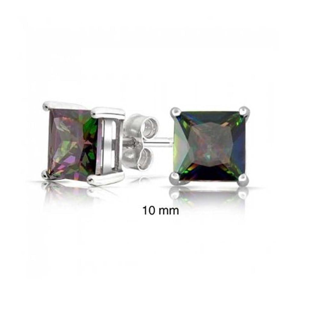 差し引く科学的意味[ブリング?ジュエリー] Bling Jewelryスターリング シルバー SILVER 925 ミステリアス トパーズ色 キュービックジルコニア スタッド ピアス 10mm [インポート]
