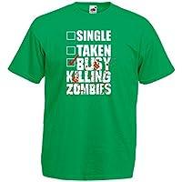 (ゾンビを殺すのに忙しい。) Busy Killing Zombies, メンズ プリント Tシャツ