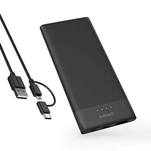 モバイルバッテリー Omars 5000mAh 大容量 3A出力 急速充電 USB出力 Type-C出力 薄型 軽量 USBスマホ iPhone/iPad/Android等対応 電気ベスト (5000mAh)