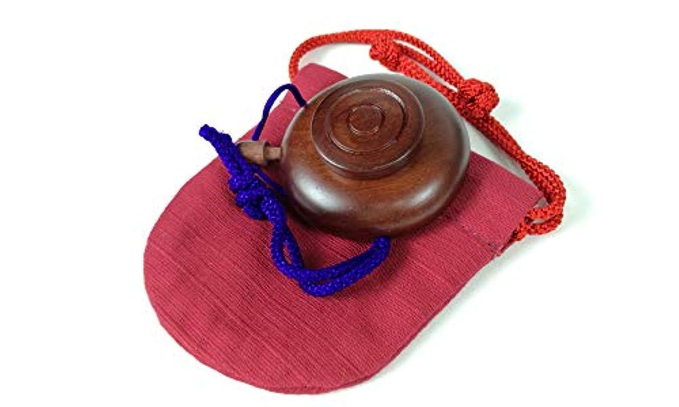 一回到着味付け塗香入れ 桜 黒檀 紫檀 サイズ選択 小 大 塗香入れ袋付き 携帯用 (小, 紫檀赤)