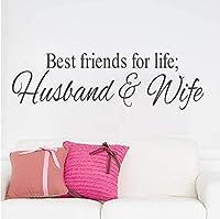 ウォールステッカー最高の友人の生活夫と結婚式の装飾装飾ビニール寝室のキャラクター壁画