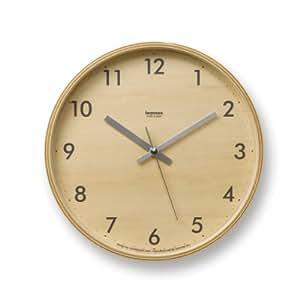 Lemnos Plywood clock グレー LC04-05S GY