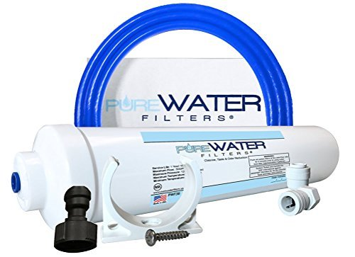 Under Sink Water Filter Instal Kit, Complete Filtration System for Kitchen and Bathroom Faucets