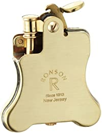 RONSON ロンソン オイルライター バンジョー フリント式 ブラス サテン R01-0023