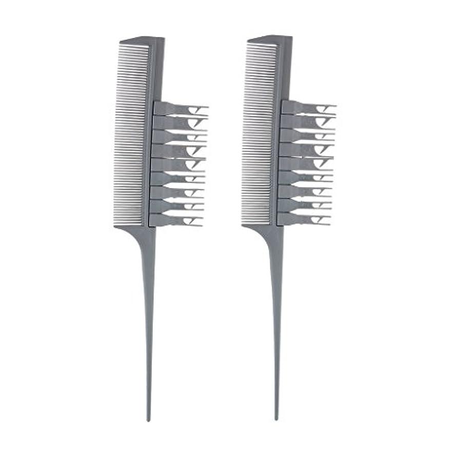 引き付けるスクリーチ複雑でない2つの部分プロフェッショナルセクショニング織りハイライトハイライトヘアコンビ