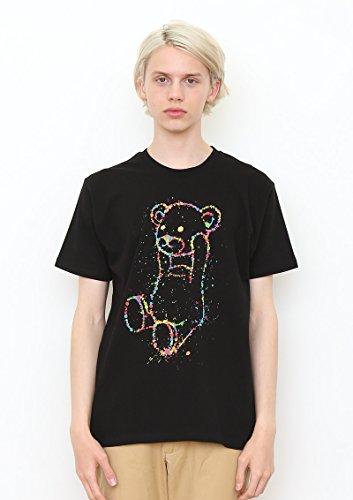 (グラニフ)graniph ベーシックTシャツ / ドリッピングコントロールベア ( ブラック ) L